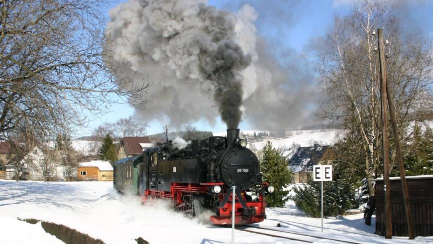 Jízda parní lokomotivou Oberwiesenthal–Cranzahl